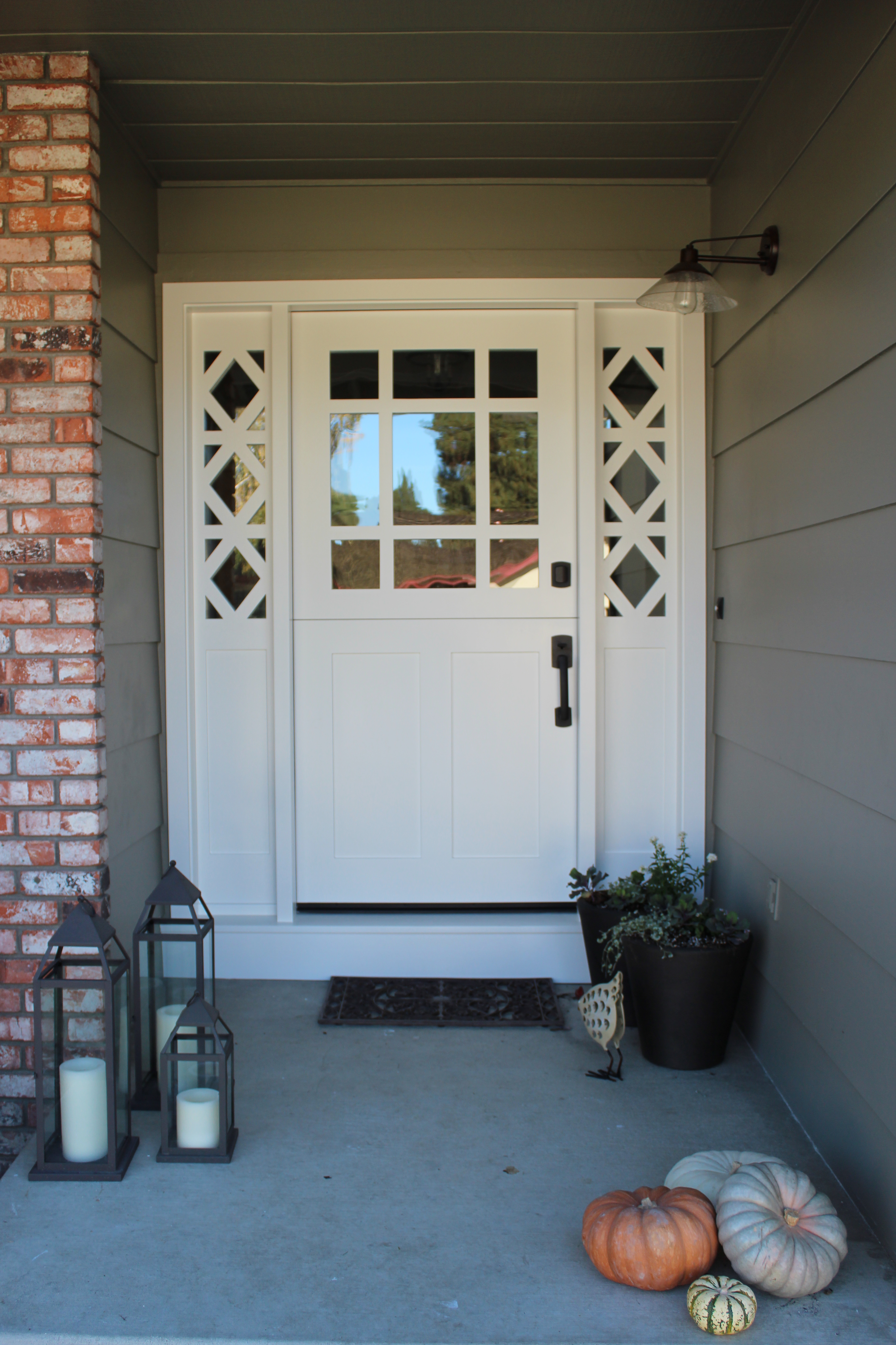 Attractive May52018. Here Is A Beautiful Custom Made Painted White Dutch Door ...