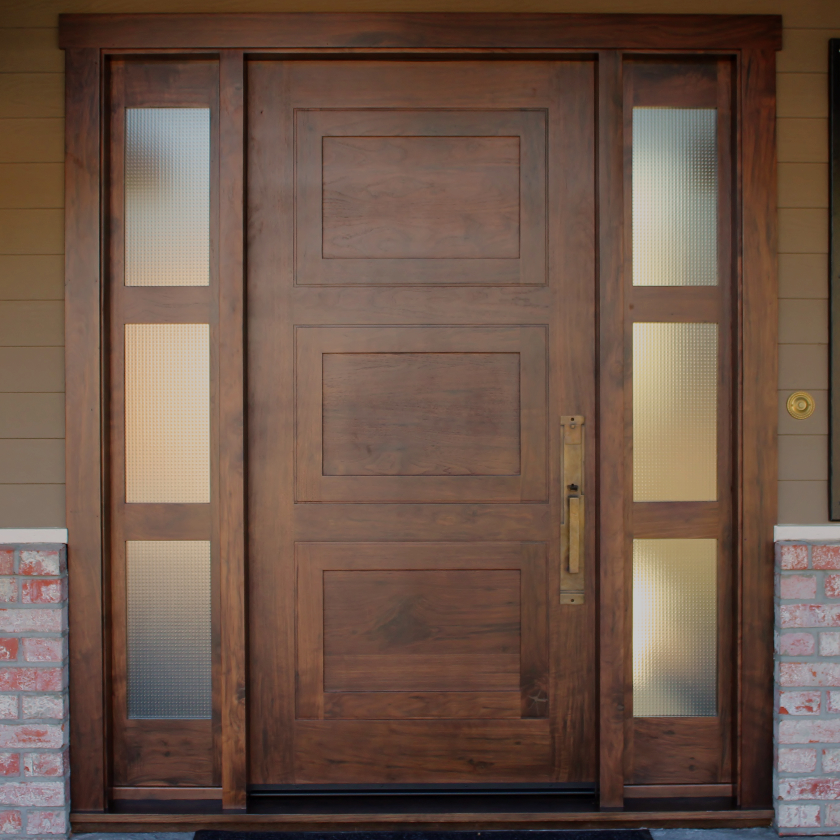 Gorgeous ... & Knotty Walnut Door and Sidelights | Antigua Doors